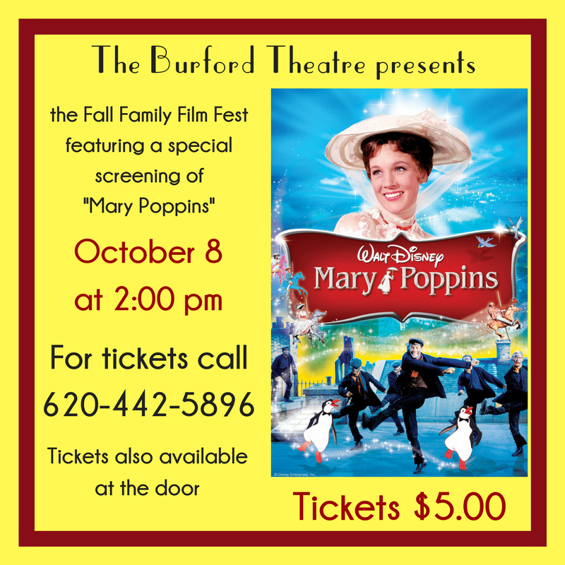 The Burford Theatre Fall Family Film Fest Kicks Off with Mary Poppins!